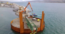 New BSP hammer drives  piles for Irish port extension