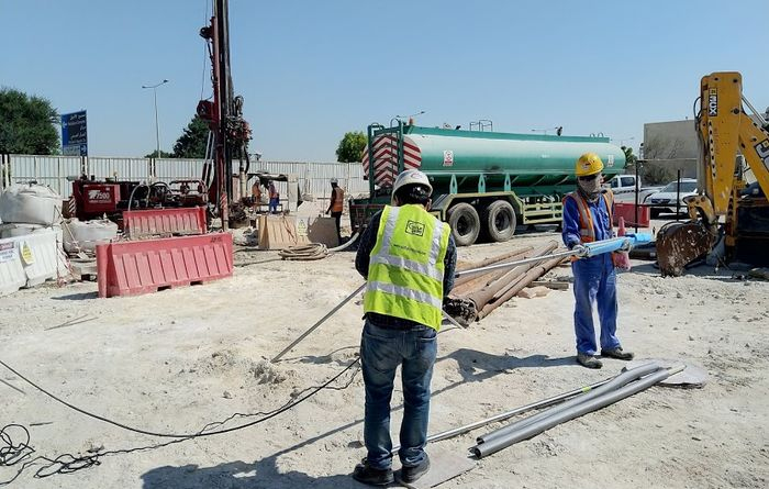 Deep recharge and monitoring wells in Doha