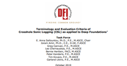 DFI publishes new white paper on crosshole sonic logging