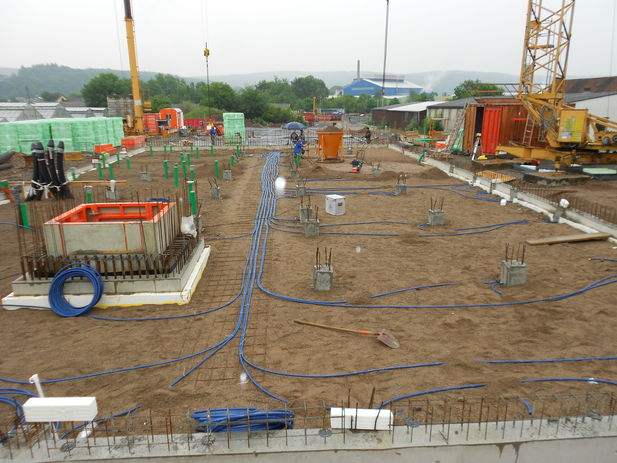 n example of a site where energy piles are being installed