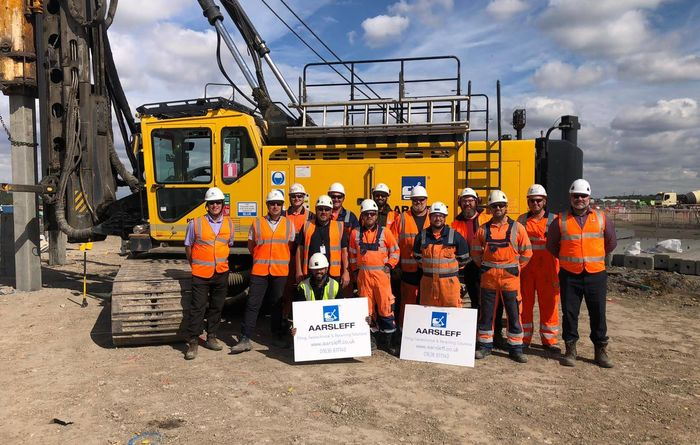 Aarsleff's driven piling for new mega shed in London