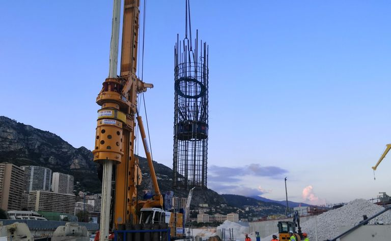 First O-cell pile tests performed in Monaco