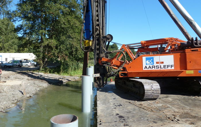 Steel tube piles saves on CO2e for Aarsleff