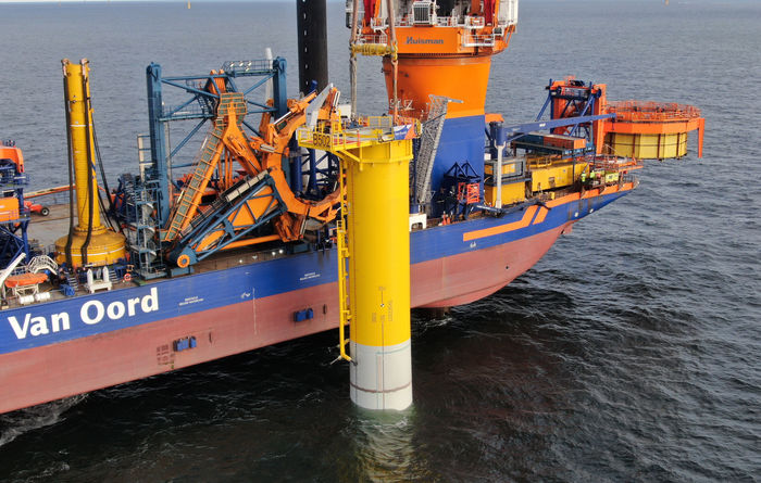 Van Oord installs world's first submerged slip joint