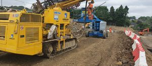 Aarsleff soil nailing at new school development