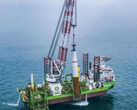 Halfway mark reached on foundations at Borssele 1 & 2 offshore wind farm