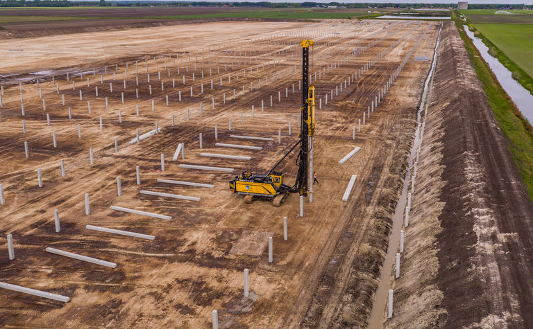 Aarsleff's uses Centrum pile system in double function in Holland