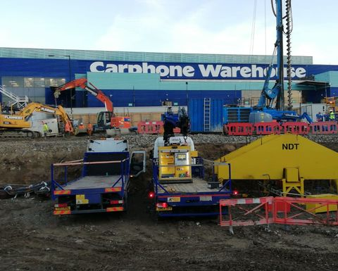 Preliminary pile load testing for One West Point, London