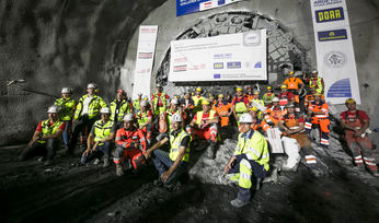 Breakthrough for exploratory tunnel at Brenner Base project