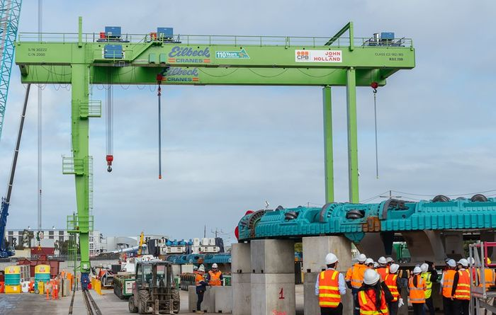 Final piece in place for first West Gate Tunnel boring machine