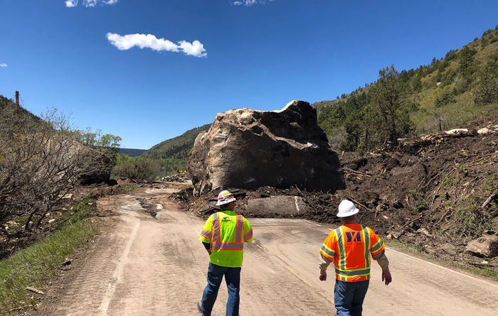 GeoStabilization's crews restore access after boulders destroy Highway 145