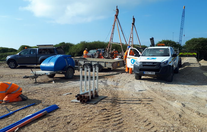 Borehole logging for engineering projects