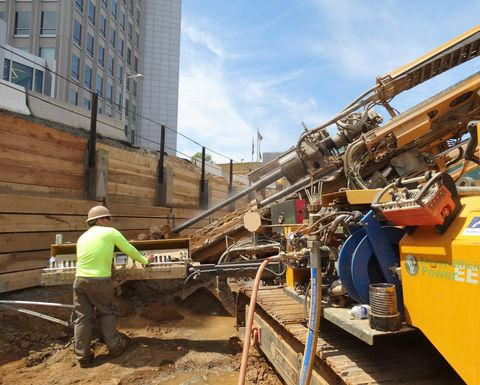 KLEMM drilling rig anchors mixed-use development