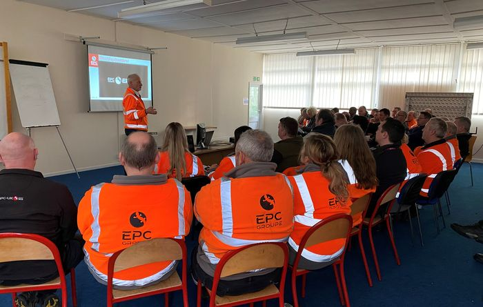 The latest Safety Kick-off Initiative being introduced to employees of EPC-UK