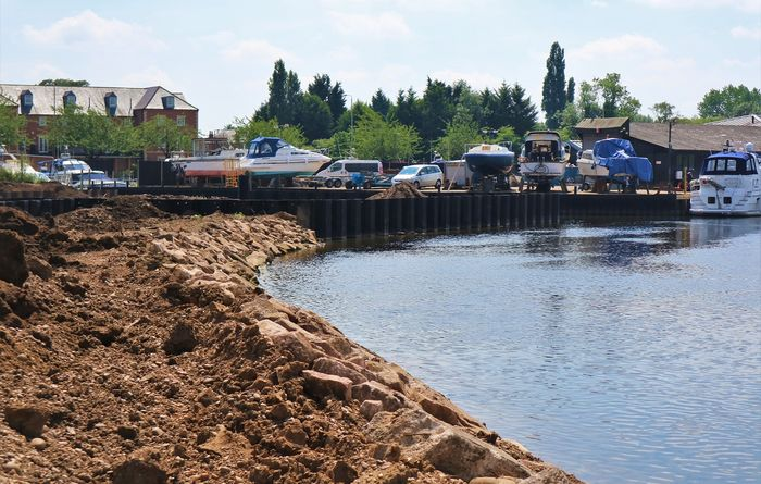 Aarsleff's work on Newark Marina extension
