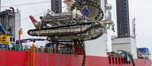 Deep Dig-It trencher buries cables in the North Sea