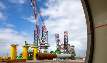 Foundation installation starts at Belgium's largest offshore wind farm