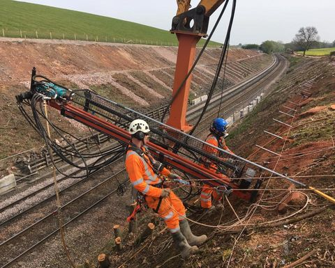 Soil stabilising at Arley Tunnel