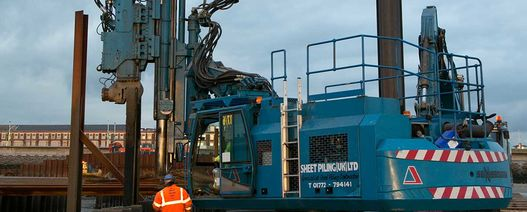 Sheet Piling continues plant investment with addition of new vibratory hammer