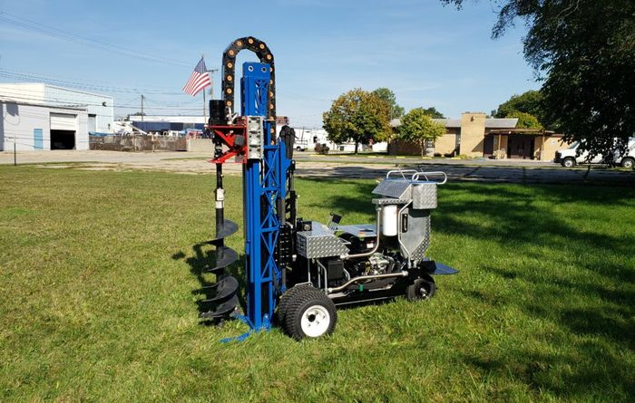 Exlterra's MAZL - a drill rig for utility, fencing, and bollard installers