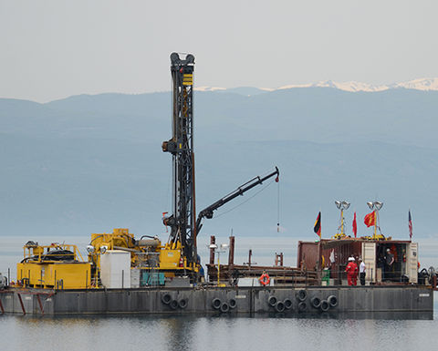 Deep drilling in Europe's oldest and most species-rich lake