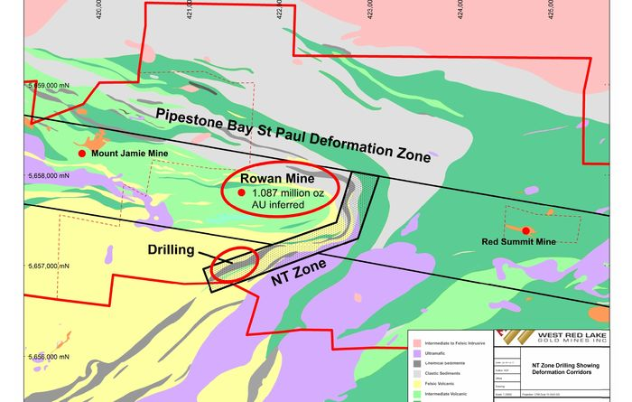 West Red Lake Gold completes 10 hole drill programme at the NT Zone