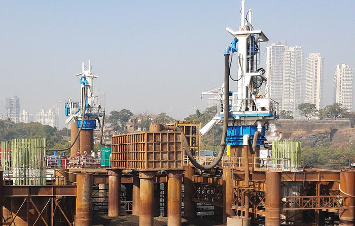 MHWirth pile top drill rigs for Mumbai Trans Harbour Link