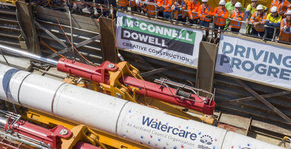 Micro tunnelling record set in New Zealand with Herrenknecht rig