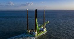 RWE and Deme offshore install collars on offshore foundations