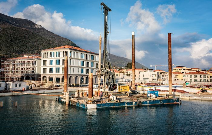 Liebherr in the Bay of Kotor