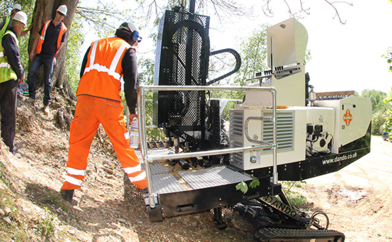 Dando presents the Ibex slope driller