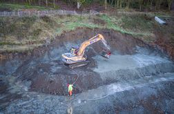 Successful slope stabilisation on contaminated ground