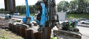 Long reach sheet piling rigs could improve smart motorway safety