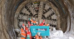 Central section of London's super sewer complete as TBM breaks through