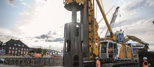 Foundation piles for the Elbtower reach a record depth