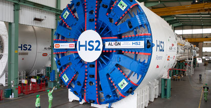 HS2's first tunnelling machines arrive in the UK
