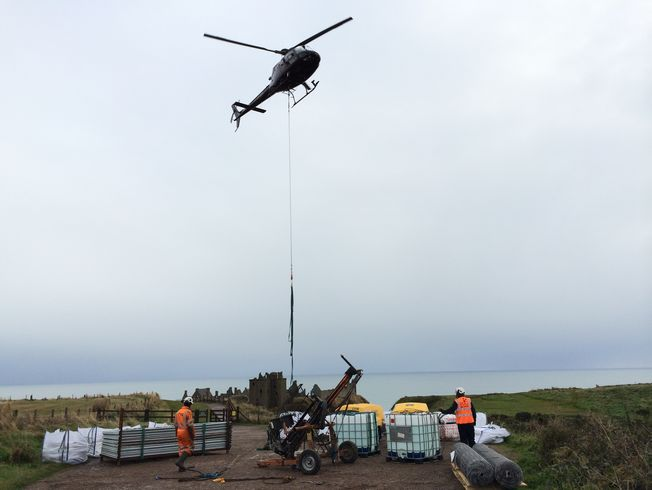 s solution to severely limited site access was to fly all of the all plant and materials in by helicopter