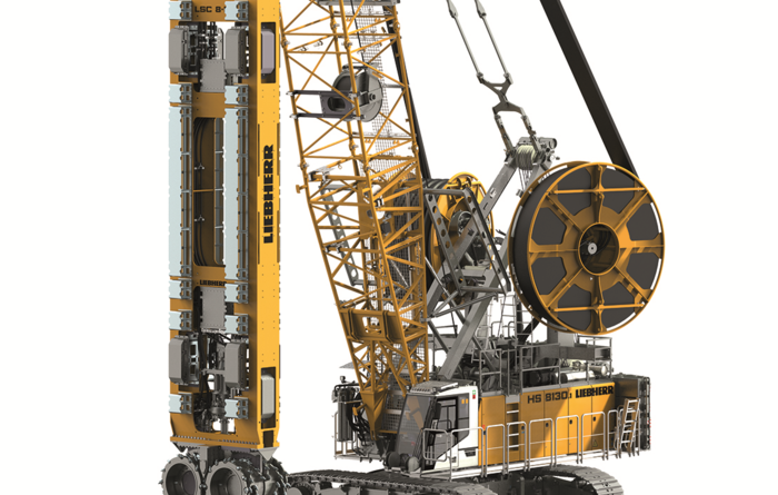 Liebherr's new attachment - the LSC 8-18 slurry wall cutter