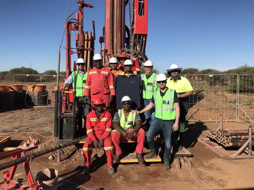 he osond crew responsible for the field tests of the new omacchio mineral exploration rigs with omacchios technicians during on of the field tests