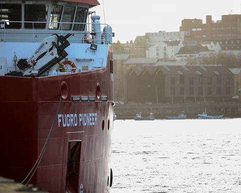 Offshore wind farm site investigation for Fugro