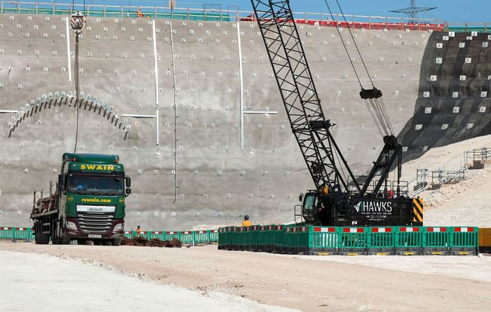 Progress at first HS2 tunnel site in the UK