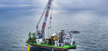 Foundation installation completed at Belgian offshore windfarm