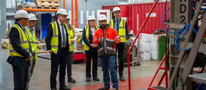 UK Minister visits geology and geophysics education and research centre