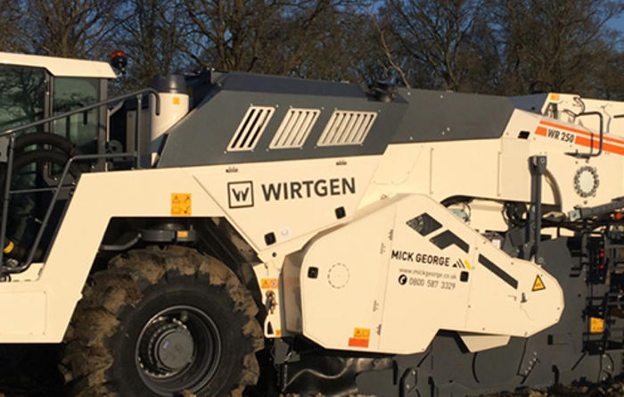 New Wirtgen soil stabilisation plant for Mick George