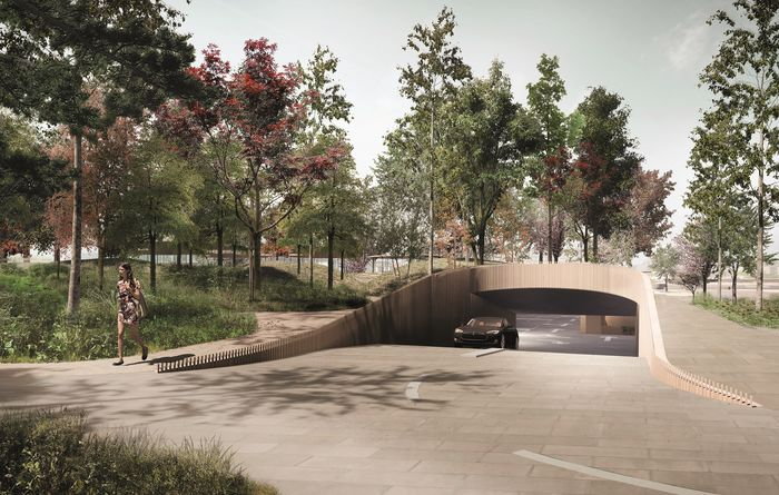 An artist's impression the Operaparken project in Copenhagen for which Bauer is installing diaphragm walls and anchors