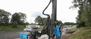 Sheet Piling's innovative rig used on motorway widening project