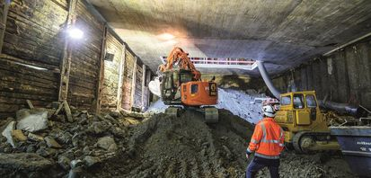 Underground construction at Munich's Thomas-Wimmer-Ring
