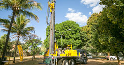 On the road in Brazil with Epiroc's TH10LM water well drilling rig