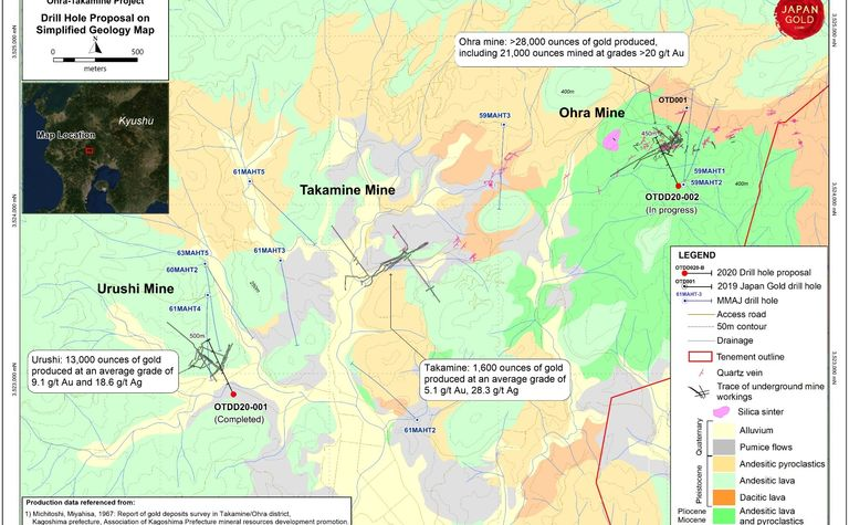 Japan Gold provides drilling update at Ohra-Takamine Project in Kyushu, Japan