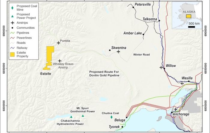 Drilling contract awarded at the Estelle gold district project
